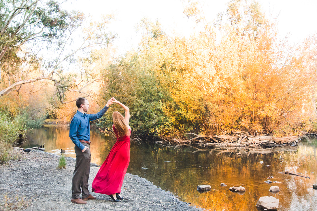 Fall California engagement shoot